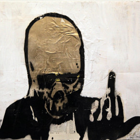 Gold Skull Giving The Finger - February 5, 2015